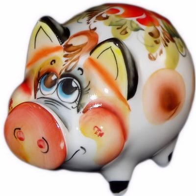 свинка цветная, 12 см