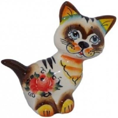кошка цветная 9 см