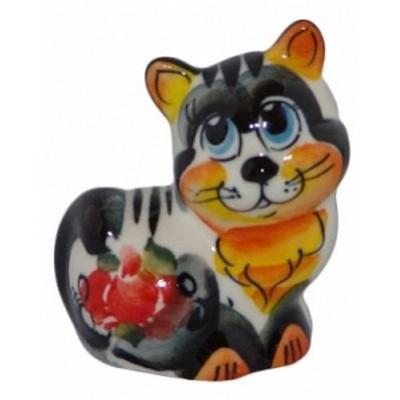 кошка цветная фарфоровая 5.5 см