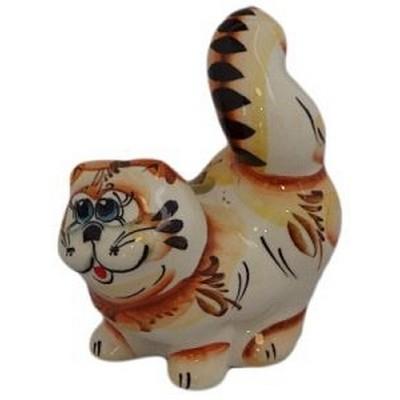 кот фарфоровый цветной 11 см