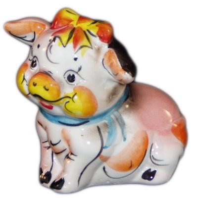 Фигурка свинка сувенир 2019