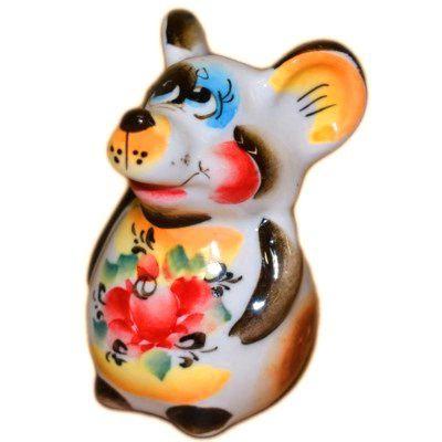 Сувенир крыса из фарфора