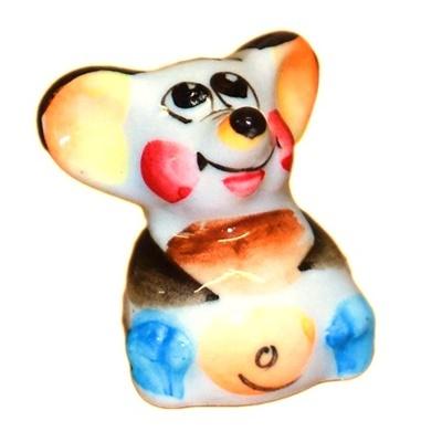 Цветной фарфоровый мышонок