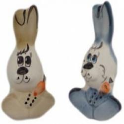 Заяц цветной фарфоровый, 8 см, арт 4070