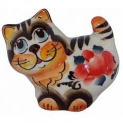 Кошка из фарфора цветная 5.5 см
