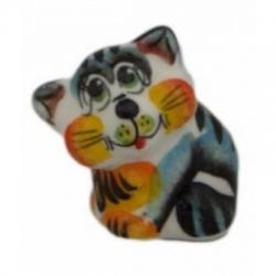 Кот цветной фарфоровый  4.5 см