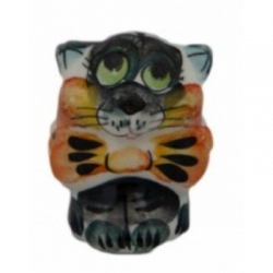 Кот из фарфора цветной 4 см