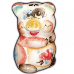 Свинка фарфоровая цветная 6.5 см