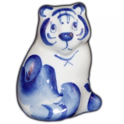 Тигр гжельский фарфор 5.5 см
