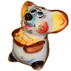 Мышь с сыром цветная 5.5 см.