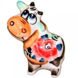 Фигурка бычок цветной 4.5 см, 2837