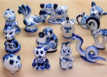 Сувениры-символы года Гжель