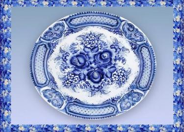Гжельская роспись на посуде